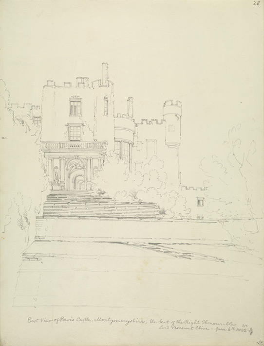 Powis Castle, east view f.28